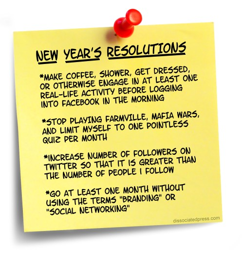 Start The Resolutions Without Me | dissociatedpress.com